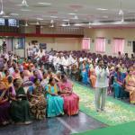 Sri Swamiji speaks in Shobhanadri Hall in Gandigunta's Datta Digambara Ashrama